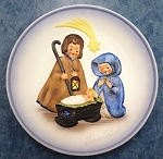 1977 Goebel Handpainted Janet Robon Commemorative Ltd. Ed. Plate - Joseph, Mary & Child