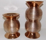 2pc. Gold Pillar Candle Holder Set