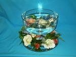 Cake Plate with Floating Candles and Flower Ring