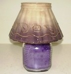 Purple Ceramic Shade (candle not included)