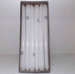 10 Inch White Tapers (dozen)