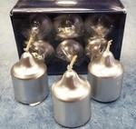 Silver Votive Candles (6)
