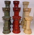 3pc. Ceramic Pillar Candle Holder Sets