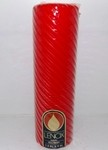 2.8X9 Hollyberry Scented Spiral Pillar Candle