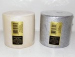 3X3 Brushed Metalic Pillar Candles