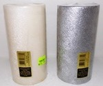 3X6 Brushed Metalic Pillar Candles