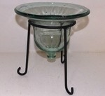Bell Glass Pillar Candle Holder