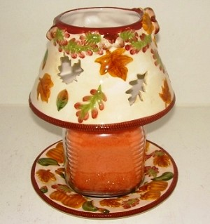 Acorns & Pumpkin Ceramic Shade Set (candle not included)