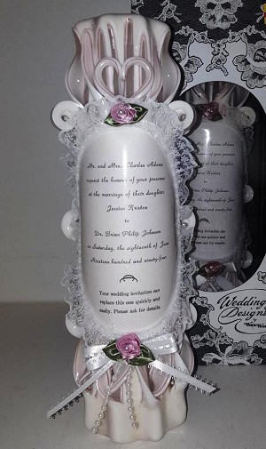 Carved Invitation Candle