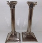 "Pair of 12"" Silver Plated Holders"